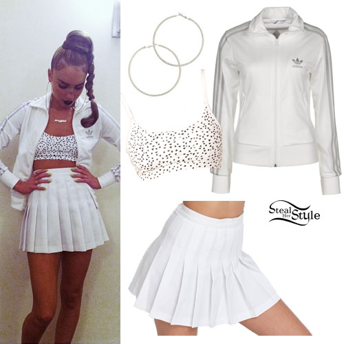 My Name Is Kay: White Tennis Skirt Outfit