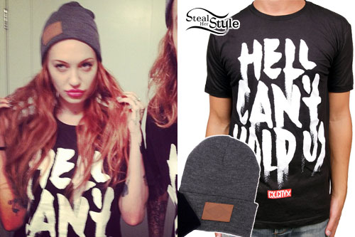 Porcelain Black: Hell Can't Hold Us T-Shirt, Beanie