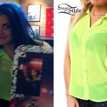 Sierra Kusterbeck: Neon Sleeveless Blouse