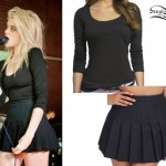 Sky Ferreira: Black Pleated Skirt