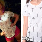 Skye Sweetnam: Cross Print T-Shirt