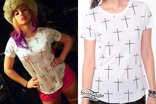 Skye Sweetnam: Cross Print T-Shirt