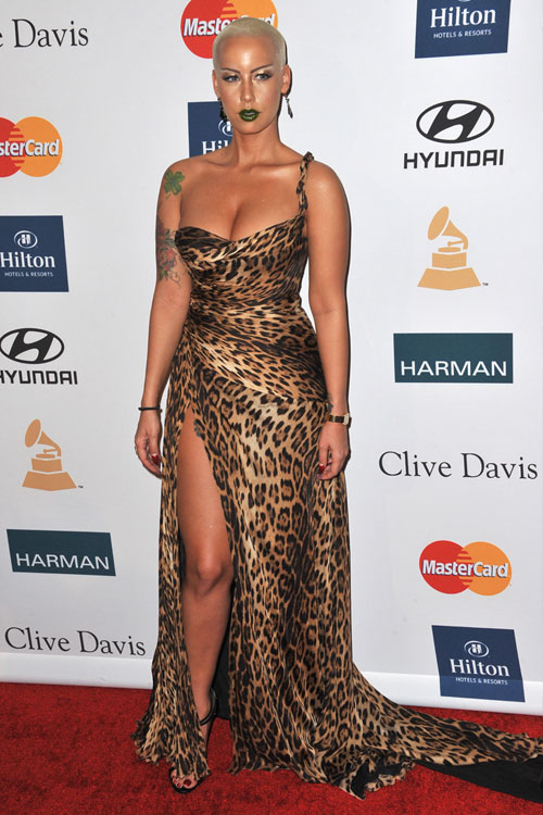 Amber Rose at the 54th Annual Grammy Awards at Staples Center in Los ...