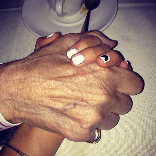 Ariana Grande White Nails