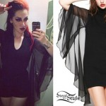 Ash Costello: Sheer Batwing Dress