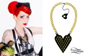 Ash Costello: Heart Spike Necklace