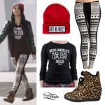 Becky G: Becky from the Block Aztec Leggings Outfit