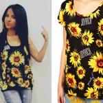 Becky G: Sunflower Tank Top