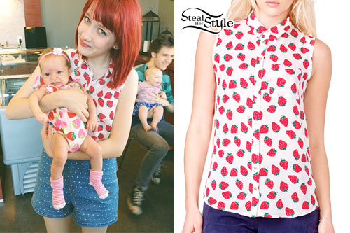 Christie DuPree: Strawberry Print Shirt