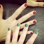 christina-perri-nails-red-glitter