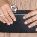 Khloe Kardashian Light Pink Foil Nails Steal Her Style