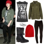 Demi Lovato: Snoop Dogg Tee Outfit