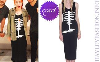 Hayley Williams skeleton dress