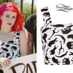 Hayley Williams: Animal Print Crop Top