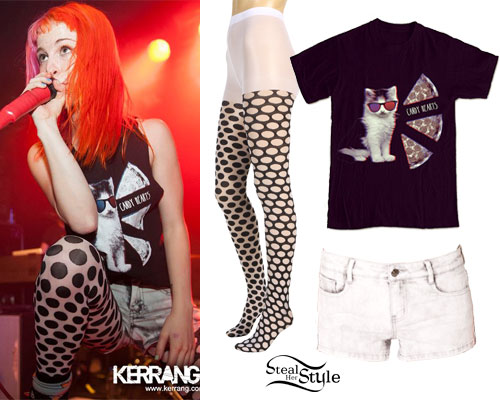 Hayley Williams: Cat Pizza T-Shirt
