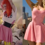 Hayley Williams: 'Still Into You' Pink Latex Dress