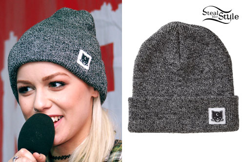 Jenna McDougall: Black and White Speckled Beanie