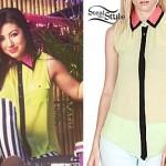 Jess Bowen: Colorblock Sleeveless Blouse