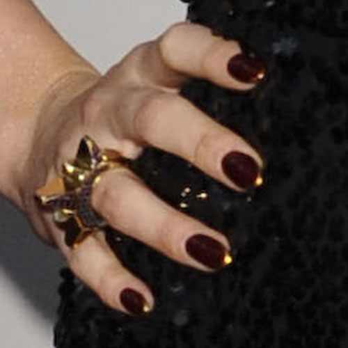 Prettyfulz Fall Nail Art Design 2011: Jessie J Bronze Nails