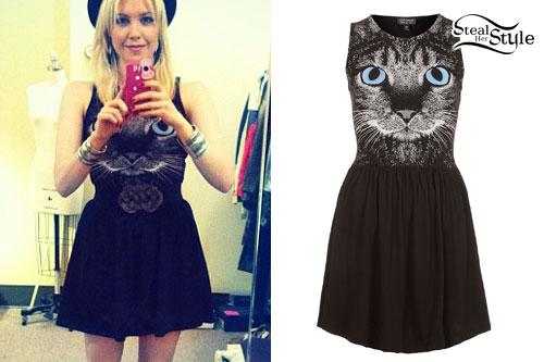 Jessie Malakouti: Cat Face Dress