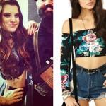 Juliet Simms: Floral Long Sleeve Crop Top