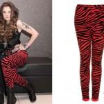 Juliet Simms: Red Zebra Leggings