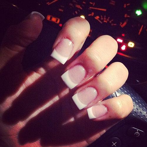 Lexus Amanda Clear White French Manicure Nails