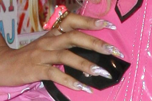 nicki minaj clear nail art nails steal her style