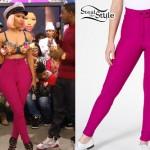 Nicki Minaj: Pink High-Waisted Pants