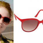 Hayley Williams: Red Cat Eye Sunglasses