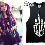 Rena Lovelis: Middle Finger Bones Tee