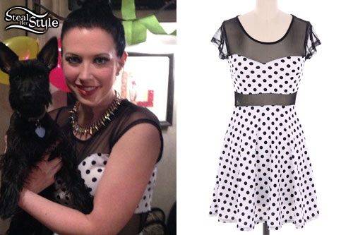 Shawna Thompson: Mesh Polka Dot Dress