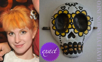 Hayley Williams in a sugar skull hair clip by CharlaVail
