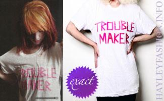 Hayley Williams in a Coco de Coeur t-shirt