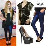 Avril Lavigne: Sequin Vest, Studded Pumps