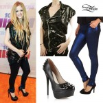 Avril Lavigne: Sequin Vest, Studded Pumps