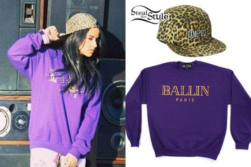 Becky G: 'Ballin' Sweatshirt, Leopard Hat