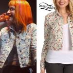 Hayley Williams: Fruit Print Denim Jacket