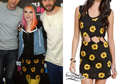 Hayley Williams: Sunflower Print Dress