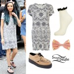 Jade Thirlwall: Tribal Dress, Peach Creepers