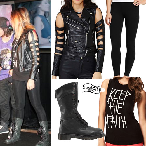 Jahan Yousaf: Cutout Leather Jacket, Keep The Faith Tee
