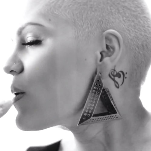 jessie-j-music-notes-tattoo-behind-ear
