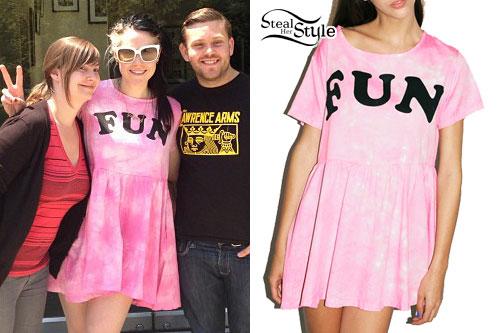 Kate Nash: 'Fun' Pink Tie Dye Dress