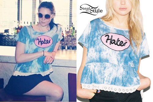 Kate Nash: Tie Dye 'Hater' Top