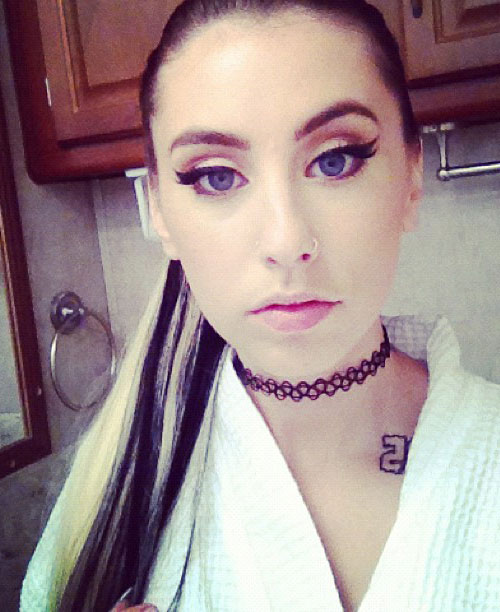 Kreayshawn Straight Black Ponytail Hairstyle | Steal Her Style