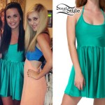 Megan Mace: Teal Skater Dress