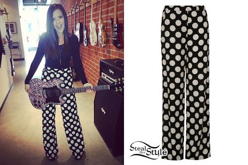 Megan Mace: Polka Dot Wide Leg Pants