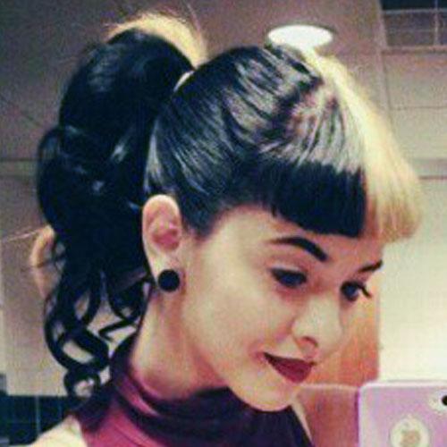 Melanie Martinez Curly Black Golden Blonde Blunt Bangs