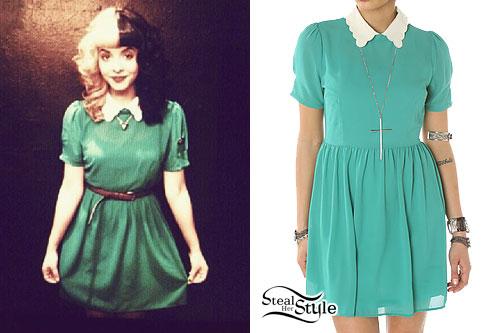 Melanie Martinez: Green Collared Dress