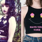Melanie Martinez: Cupcake Smiley Face Crop Top